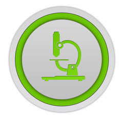 Microscope circular icon on white background