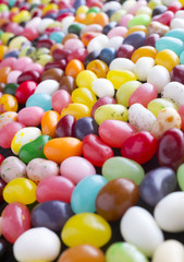 A sea of jelly bean candy
