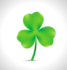 Saint Patrick's green clover background