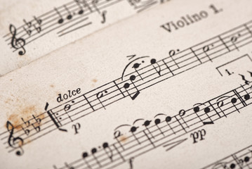 Old sheet music background
