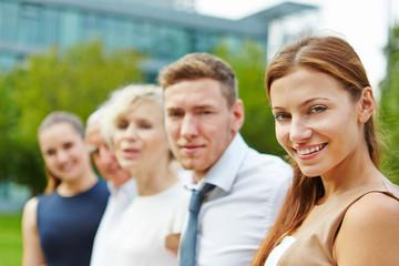 Portrait vom zufriedenen Business Team