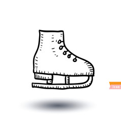 vintage skates, Sport icon, Hand drawn vector illustration