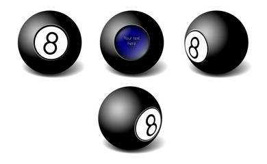 Magic 8ball vector