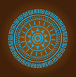 Aztec sun circle ornament - 75508413