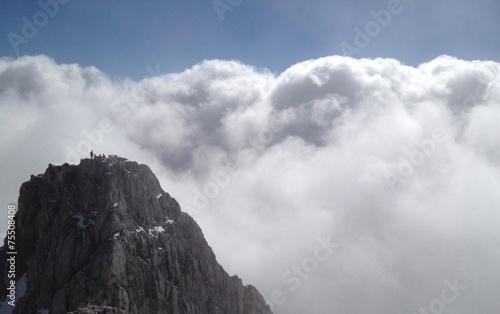 canvas print picture Über den Wolken am Hochkönig