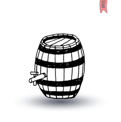 barrel icon, vector illustration