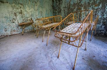 maternity ward in No 126 hospital, Pripyat, Chernobyl Zone
