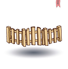 wooden fence, vector illustration.