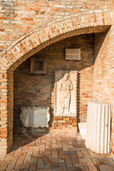 Stone plaques, Torcello Museum, Torcello, Venice, Italy