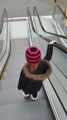 Girl going shopping