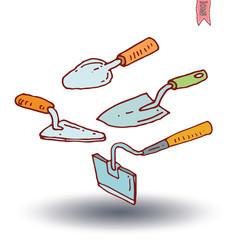 Gardening tools , vector illustration.