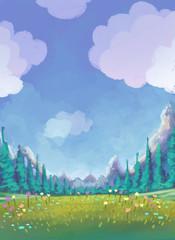 paisaje de un prado
