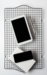 Smartphone, Tablet and Notepad