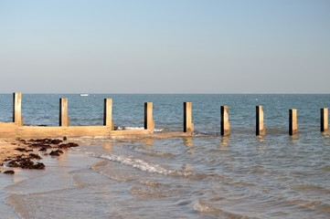 Pieux en mer