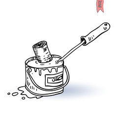 Paint roller icon, vector illustration