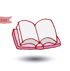 book icon, Back to school, icons, vector illustration.