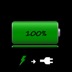 Icon charged battery