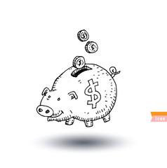pig Money, hand drawn vector illustration