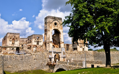 Krzyztopor castle ruins in Ujazd village Poland.