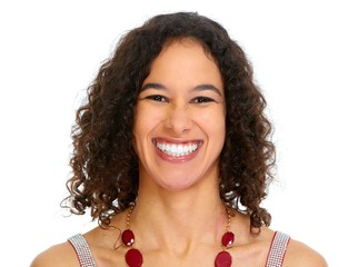 Young smiling woman portrait.