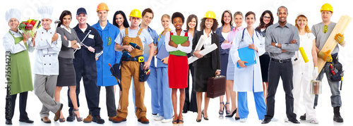 Business people workers group. - 75514273