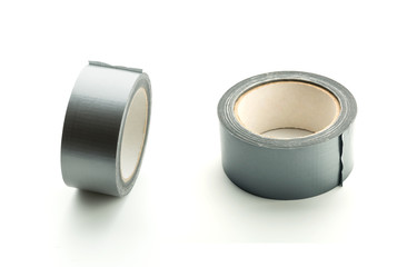 Two  rolls of silver adhesive tape