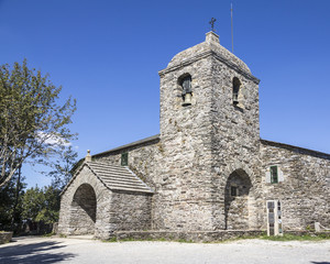 Santa Maria la Real church in O Cebreiro, Spain