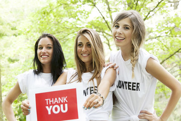 young girls volunteers thanks for offers