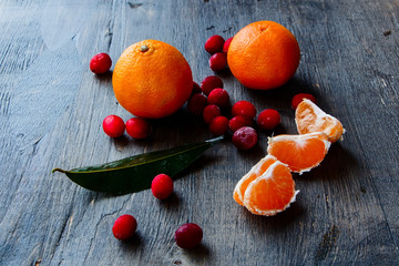 Cranberry and tangerine