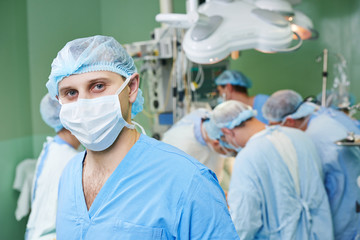 surgeon doctor in surgery operation room