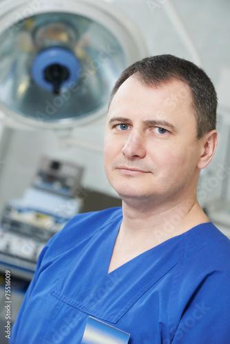 Leinwanddruck Bild surgeon doctor portrait