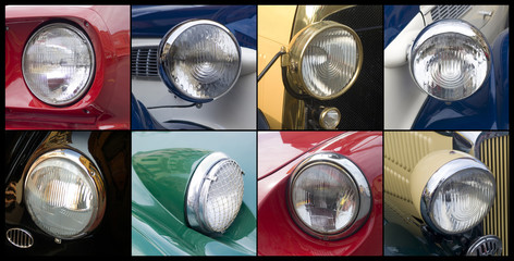 Oldtimer, headlights