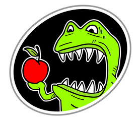 Monster eat apple