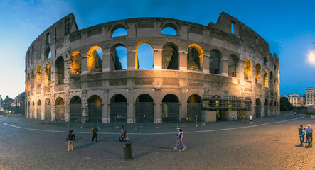 Evening view of Colosseum  in Rome, Italy