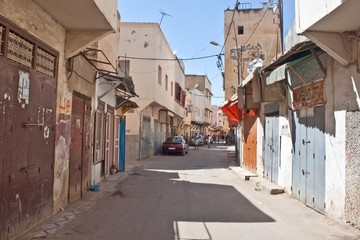 Alley in center of Meknes