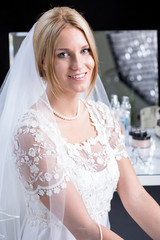 Beauty bride in wedding dress