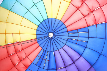 inside view of a parachute