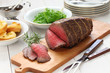 roast beef with yorkshire pudding, sunday dinner - 75519047