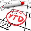 YTD Year to Date Acronym Abbreviation Calendar Status Update