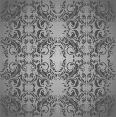 Grey vintage floral background
