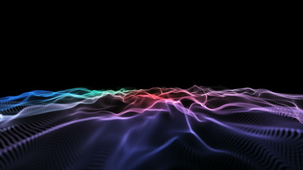 abstract wave nebula 4k
