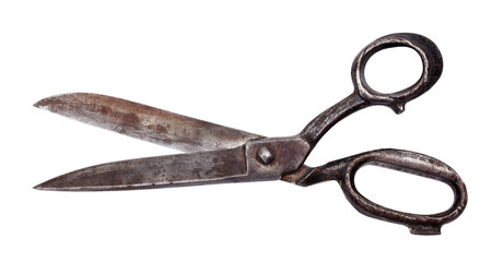 Isolated old scissors