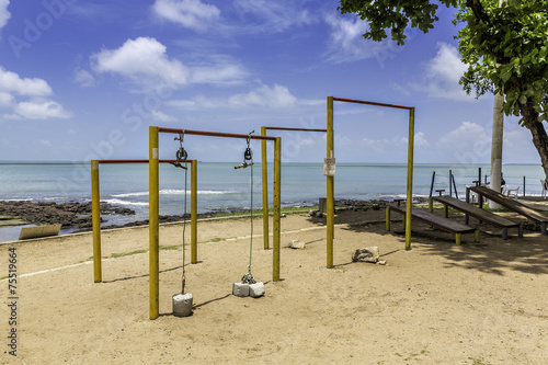 Outside gym on the beach of Fortaleza, Brazil