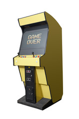 Game over on arcade machine
