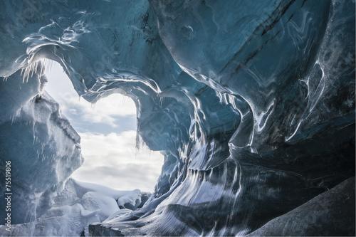 Leinwandbild Motiv Glacial Cave