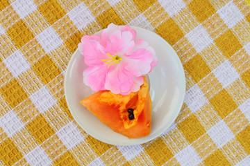 Papaya slice 4