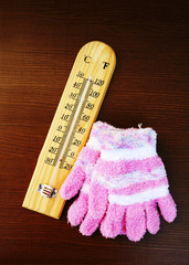 thermometer and pink gloves 2