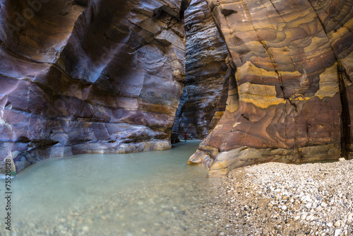 Fotobehang Canyon Grand Canyon of Jordan,Wadi al mujib Natural Reserve