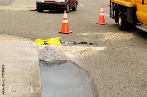 Leinwanddruck Bild Truck Wreck