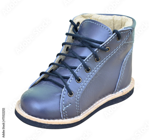 Handmade orthopedic leather shoe with 5mm supination - 75522212
